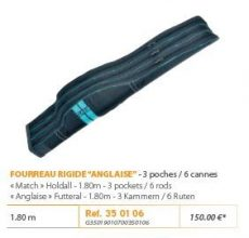RIVE botzsák 350106 Fourreau Rigide anglaise 3 poches / 6 cannes Aqua