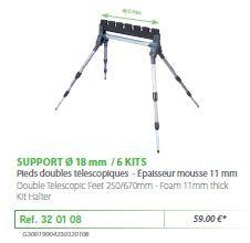 RIVE topset tartó 320108 Support kit 4 pieds 6 kits - o18 mm