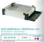 RIVE modul 628108 Bloc casier 60 + tiroir 30 F2 Alu