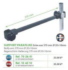 RIVE adapter Support parapluie entre axe 370mm D25; D36