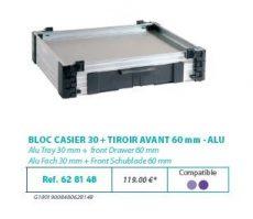 RIVE modul 628148 Bloc casier 30 + tiroir avant 60 F2 Alu