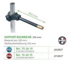 RIVE adapter Support bourriche 200mm D25; D36