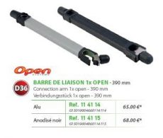 RIVE adapter Barre de Liaison (1 Etrier Open) D36 390 mm - Alu; Noir