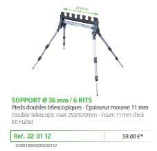 RIVE topset tartó 320112 Support kit 4 pieds 6 kits - o36 mm