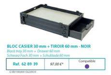 RIVE modul 628939 Bloc casier 30 + tiroir 60 F2 Noir
