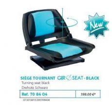 RIVE forgó szék Siege tournant Giroseat F2 Aqua Alu; Noir