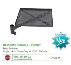 RIVE tálca 103004 Desserte D'Angle 390X390 Alu Noir D36 Mono Point