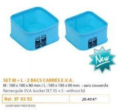 RIVE tároló 370353 Set 2 Bacs EVA Carre sans Couvercle M+L Aqua