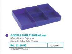 RIVE modul betét 626085 Kit godets 60 Tiroir (3 assortis) F2