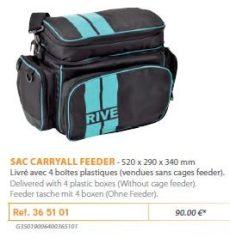 RIVE táska 365101 Sac Carry-All Feeder (+ 4 boîtes plastique) Aqua