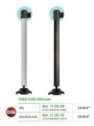 RIVE láb felső ütközővel, OPEN Pied 600mm  D36 Alu; Noir