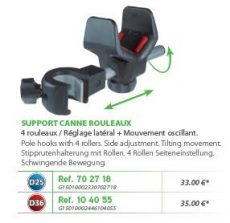 RIVE bottartó Support canne 4 rouleaux (1 piece) D25; D36