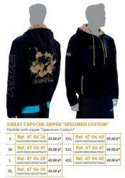 RIVE felső Sweat Capuche Zipper Specimen Custom