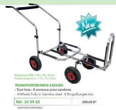 RIVE szállító kocsi, talicska 340962 Trolley Transporter 4 Roues Inox