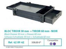 RIVE modul 628942 Bloc tiroir 30 + tiroir 60 F2 Noir