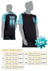 RIVE póló Black T Shirt Stripes