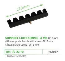 RIVE topset tartó 702270 Support 6 kits simple a vis 16 mm