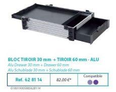 RIVE modul 628114 Bloc tiroir 30 + tiroir 60 F2 Alu