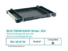 RIVE modul 628154 Bloc tiroir avant 30 F2 Alu