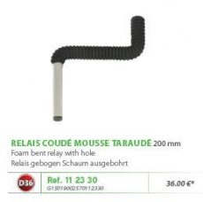 RIVE adapter 112330 OPEN Relais coude mousse taraudé D36 L=200 mm