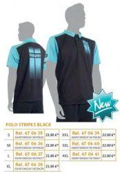 RIVE póló Black Polo Stripes
