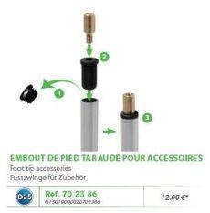 RIVE adapter 702386 Embout de pied pour accessoires D25