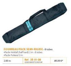 "RIVE botzsák 350108 Fourreau ""Pack"" semi-rigide 2,00 m / 8 tubes Aqua"