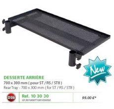 RIVE tálca 103030 Desserte Arriere 700X300 Alu Noir D36 2 Points