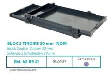 RIVE modul 628941 Bloc 2 tiroirs 30 F2 Noir