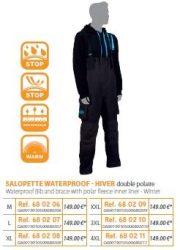 RIVE vízálló téli nadrág Salopette Waterproof - Hiver