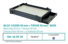 RIVE modul 628938 Bloc casier 30 + tiroir 30 F2 Noir
