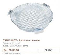 RIVE rosta 850038 Tamis Inox D 420 mm - Maille 8 mm