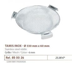 RIVE rosta 850026 Tamis Inox D 330 mm - Maille 6 mm