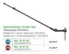 RIVE feeder kar, Bras feeder 1 point telescopique D25 - D36 - 100 cm