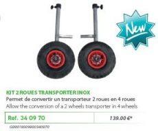 RIVE kerékszett 340970 Kit 2 Roues Pour Trolley Transporte