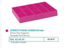 RIVE modul betét 626081 Kit godets 60 casier (5 assortis) F2