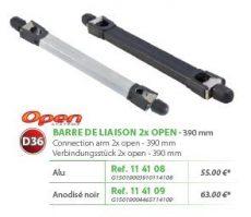 RIVE adapter Barre de Liaison 2 x Open D36 390 mm - Alu; Noir