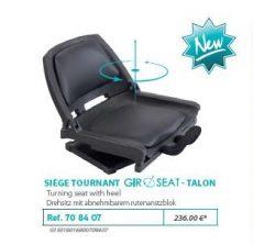 RIVE forgó szék 708407 Siege Tournant Dossier Support Canne Anodisé Noir