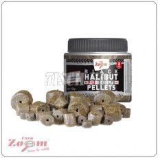 Carp Zoom Pre-Drilled Black Halibut Pellets (fúrt) 120 g CZ