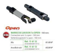 RIVE adapter Barre de Liaison (1 Etrier Open) D36 160 mm - Alu; Noir