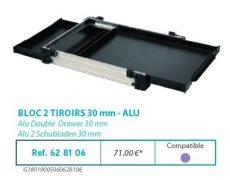 RIVE modul 628106 Bloc 2 tiroirs 30 F2 Alu