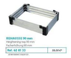 RIVE modul 628133 Rehausse 90 F2 Alu