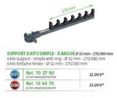 RIVE topset tartó Support 6 kits simple a bague 32mm D25; D36