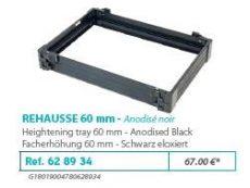 RIVE modul 628934 Réhausse 60 F2 Noir