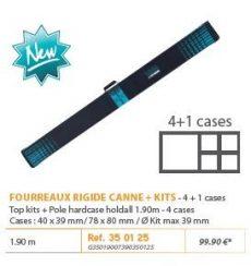 RIVE botzsák 350125 Fourreau Rigide Kits et Canne 1,90 m M 4+1 cases
