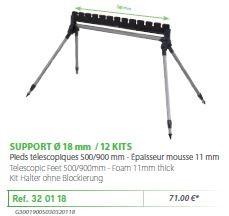 RIVE topset tartó 320118 Support kit 4 pieds 12 kits - o18 mm