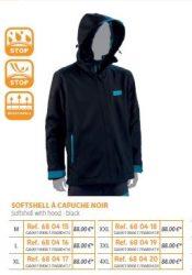 RIVE vízálló kabát Soft Shell a Capouche Noir