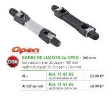 RIVE adapter Barre de Liaison 2 x Open D36 160 mm - 114105 Alu; 114106 Noir