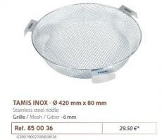 RIVE rosta 850036 Tamis Inox D 420 mm - Maille 6 mm