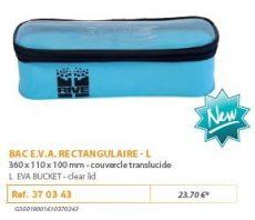 RIVE tároló 370343 Bac EVA Rect. avec Couvercle Aqua